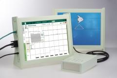 Neurofeedbacksystem mit Bildschirmen für Patient und Therapeut